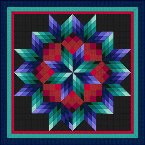 Hand Quilted Broken Star Quilt Twin/Double