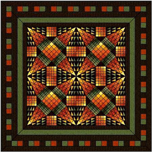 Hand Quilted Dakota  Autumn Twin/Double Quilt