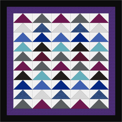 Hand Quilted Giant Flying Geese II Quilt Twin/Double