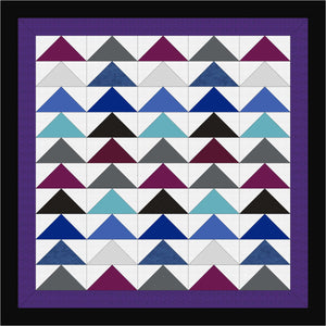 Hand QuiltedGiant Flying Geese II Quilt Queen/King