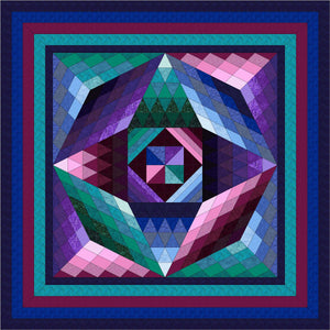 Hand Quilted Gemstone I Quilt Queen/KingI