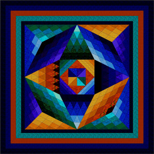 Hand Quilted Gemstone II Quilt Queen/KingI