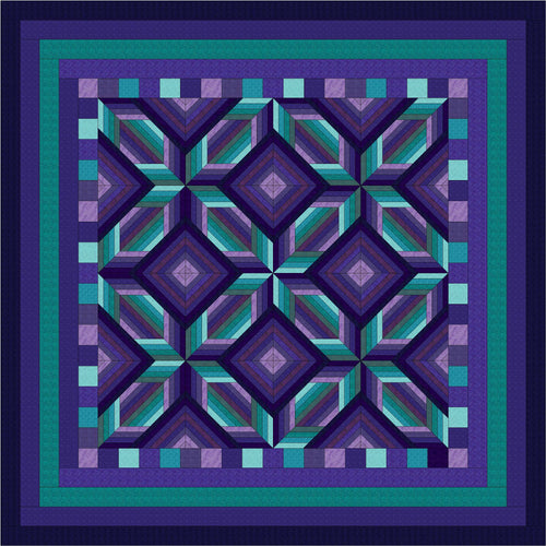 Hand Quilted Mosaic I Quilt Queen/King