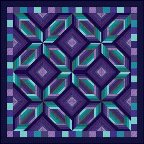 Hand Quilted Mosaic I Quilt Twin/Double