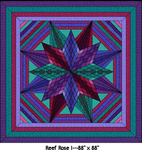 Reef Rose 1 Digital Quilt Patterns