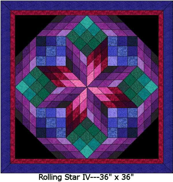 Rolling Star IV Digital Quilt Patterns