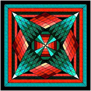 Sedona Star Lap Quilt Kit 48x48