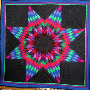Custom Amish Star Lap Quilt