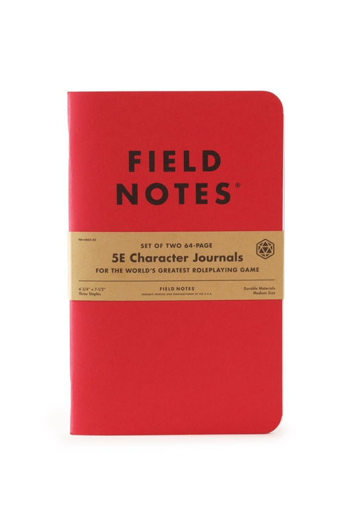 2 Pack - Field Notes 5e Character Journals - GAMETEEUK