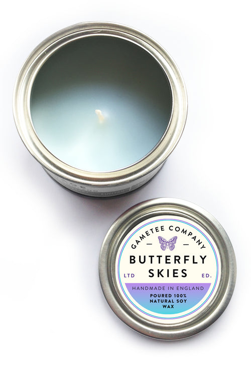 Butterfly Skies - Gaming Candle
