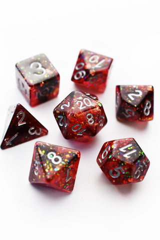 Earth Shard - Sharp-Edged Resin Dice Set
