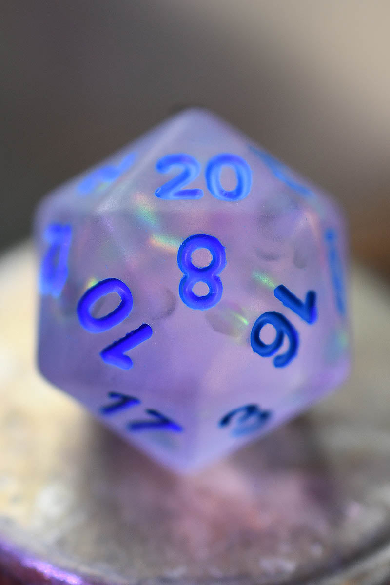 Moorland Mist - Violet Matte Frosted Acrylic Dice Set