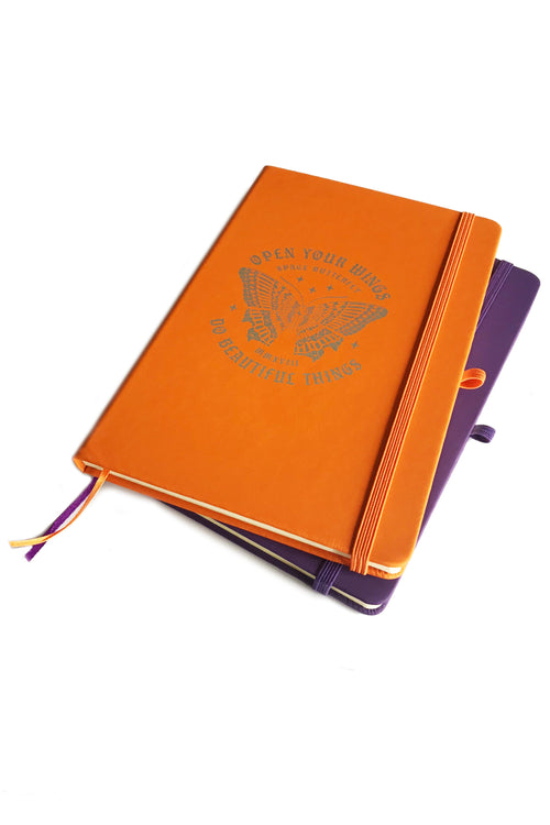 Space Butterfly Soft-Touch Notebook