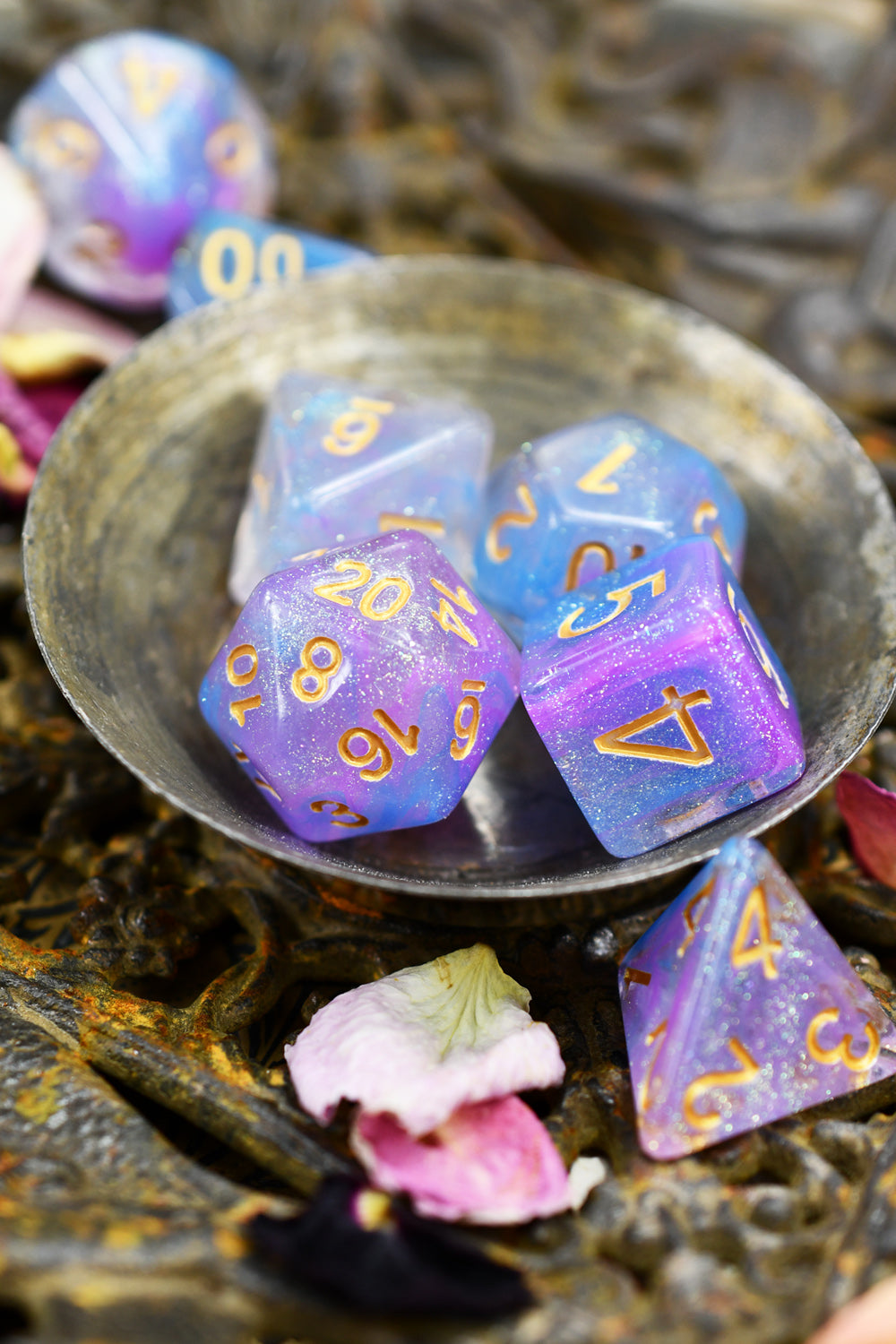 Aurora - Smoke-Silk Acrylic Dice Set