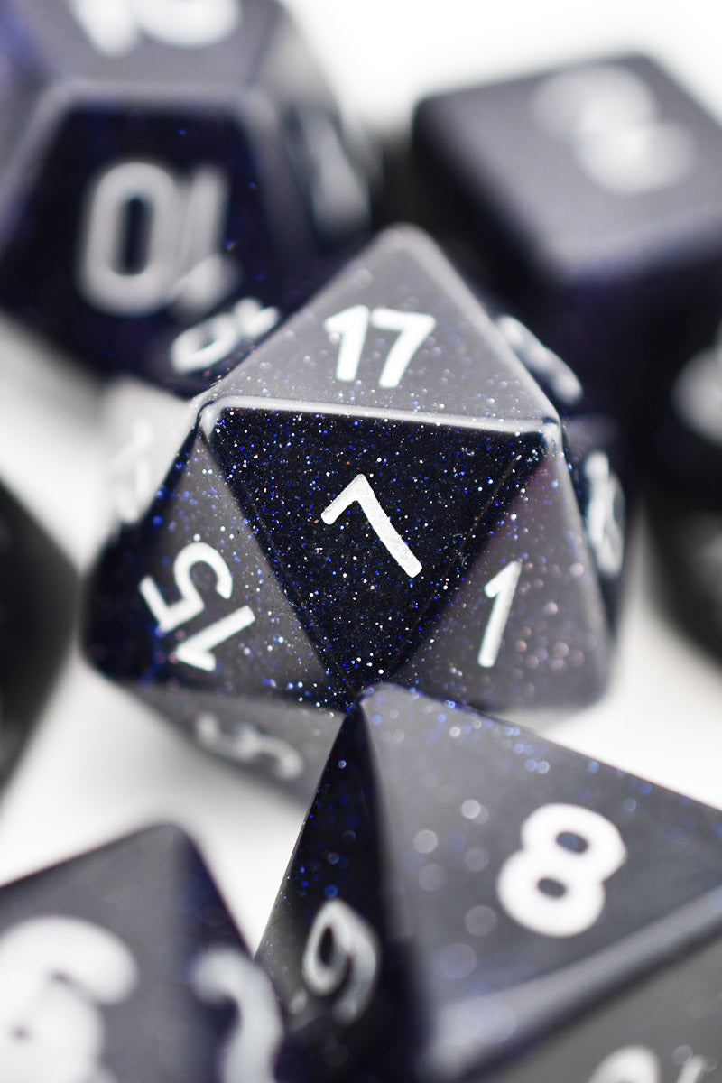 Stargazer Nightstone Gemstone Dice Set - Prototype