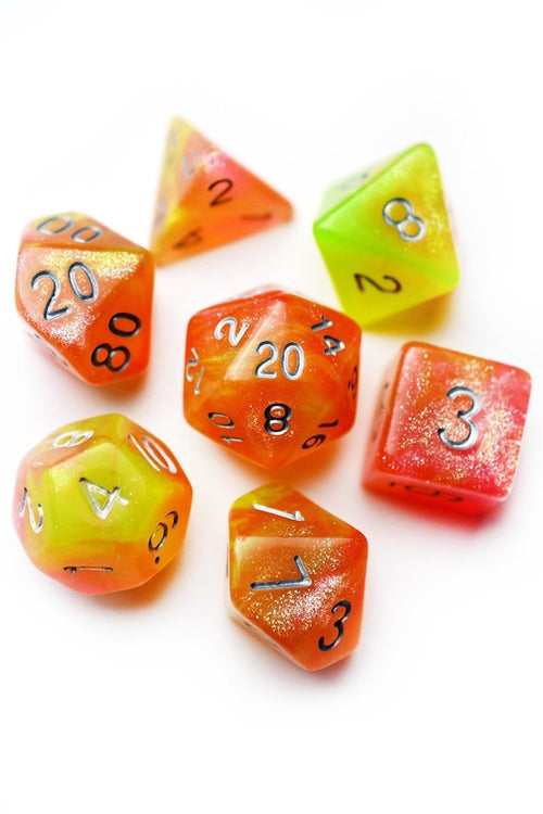 Acid Splash - Acrylic Dice Set - GAMETEEUK