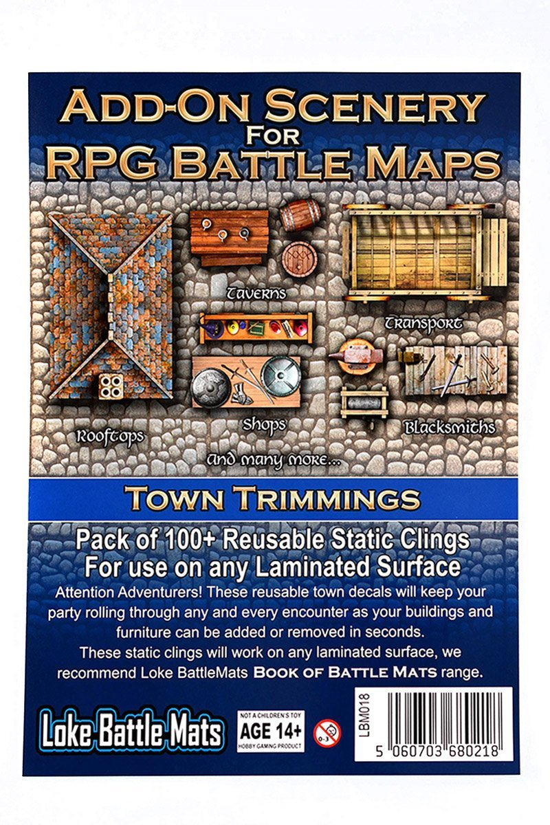 Add-On Scenery for RPG Maps - Town Trimmings - GAMETEEUK