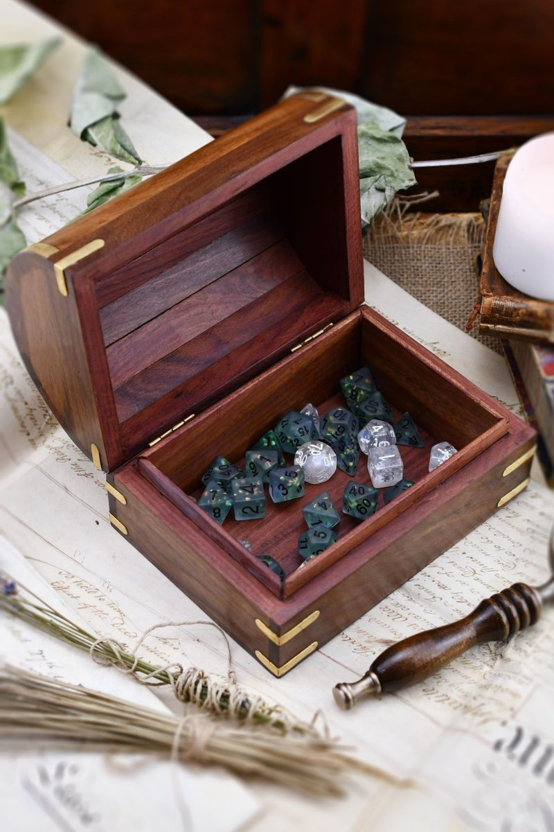 Admiral's Chest - Large Handmade Dice and Accessory Box - GAMETEEUK