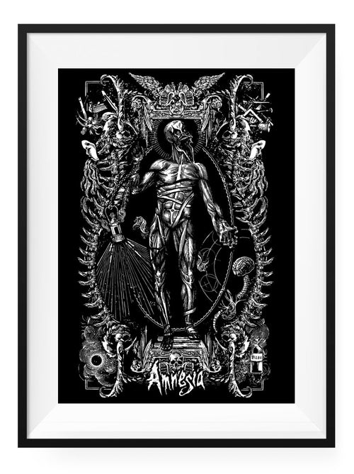 Amnesia - Limited Edition Collector's Screenprint - GAMETEEUK