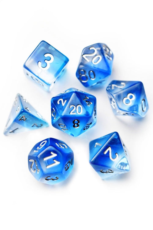 Aquarius - Layered Acrylic Dice Set - GAMETEEUK