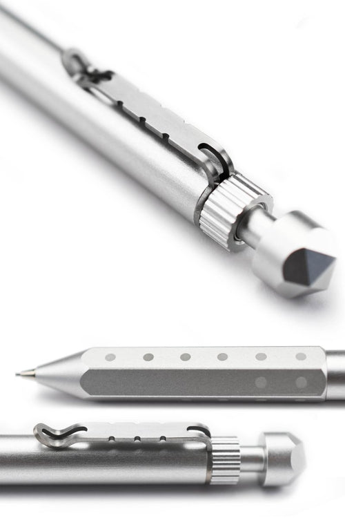 Ardent Adventurer - Silver Aluminium Mechanical Dice Pencil - GAMETEEUK