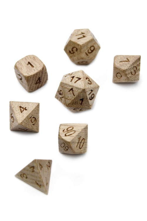 Ash Wooden Dice Set - GAMETEEUK