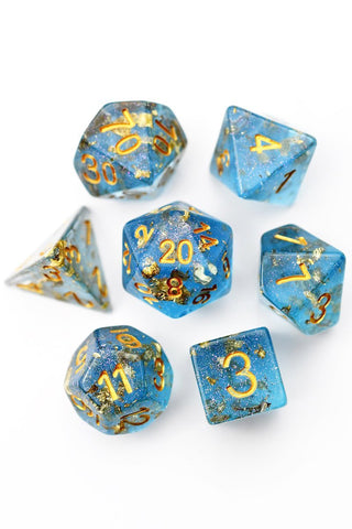 World is Your Oyster - Imitation Pearl Acrylic Dice Set