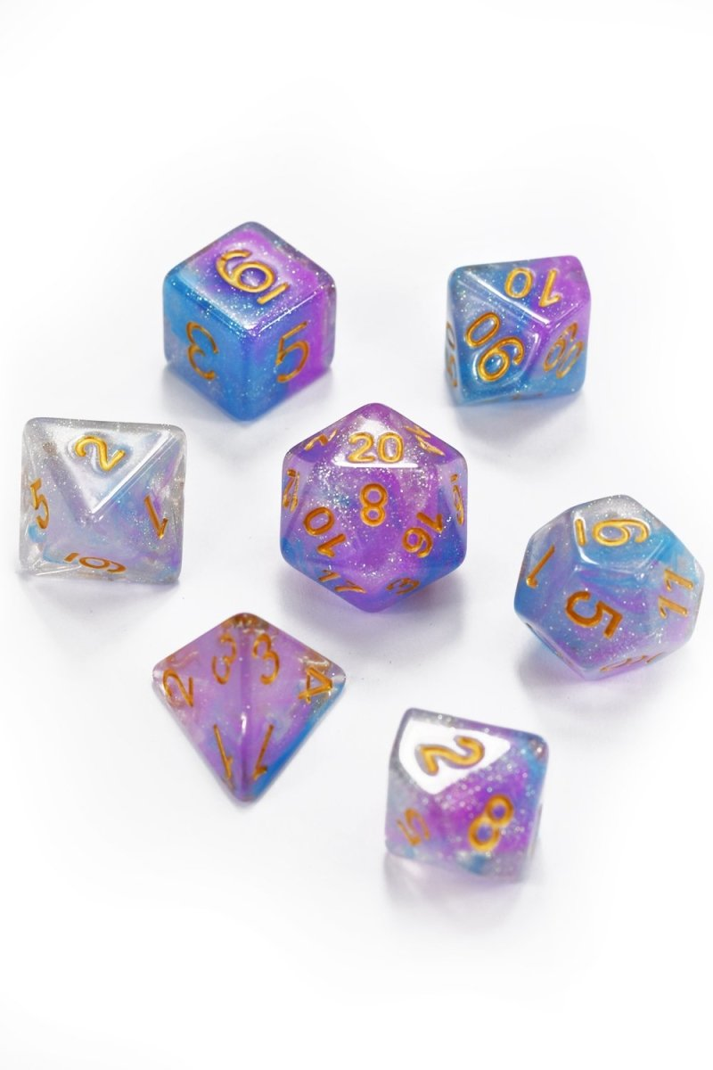 Aurora - Smoke-Silk Acrylic Dice Set - GAMETEEUK