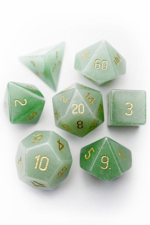 Aventurine Gemstone Dice Set - GAMETEEUK