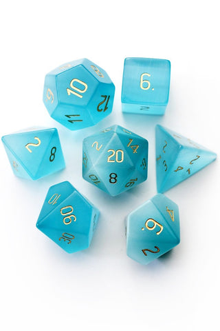 Rose Opalite Gemstone Dice Set
