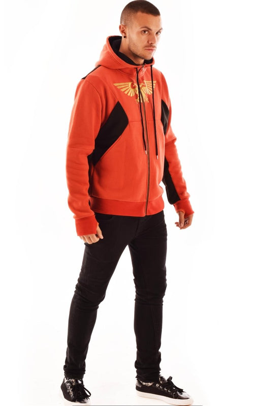 BAAL Space Marines Armour Hoodie (Red) - GAMETEEUK