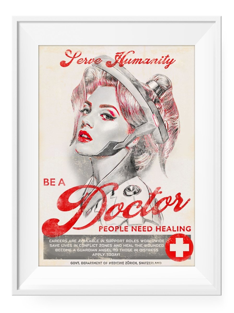 Be A Doctor - Art Print - GAMETEEUK
