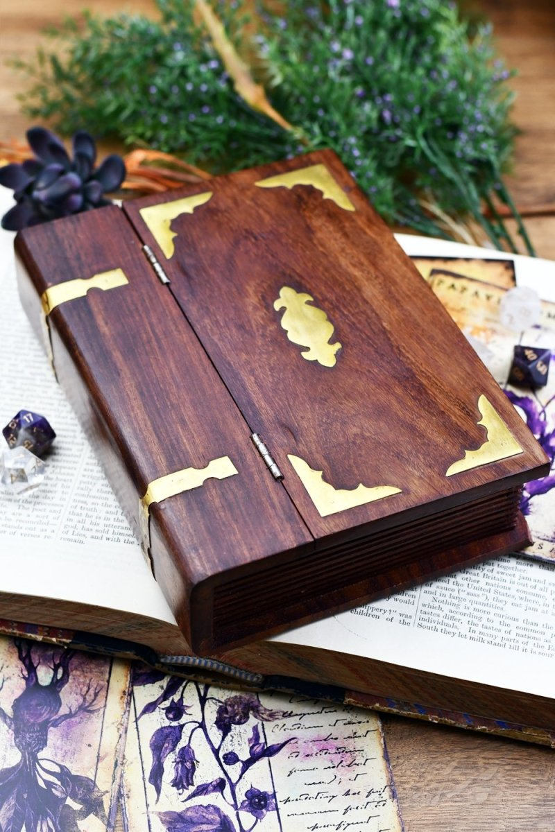 Book of Secrets - Handmade Dice and Accessory Box - GAMETEEUK
