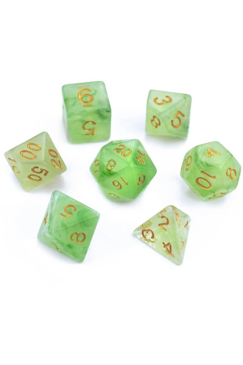 Botanical - Smoke-Silk Acrylic Dice Set - GAMETEEUK