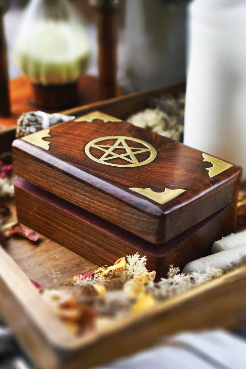 Box of Spells - Handmade Dice and Accessory Box - GAMETEEUK