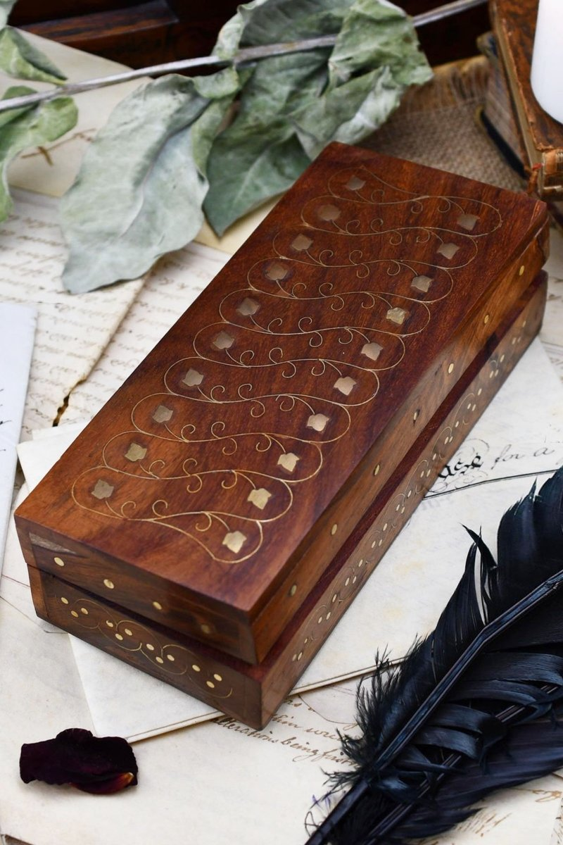 Calligrapher's Guild - Long Handmade Dice and Pen Box - GAMETEEUK