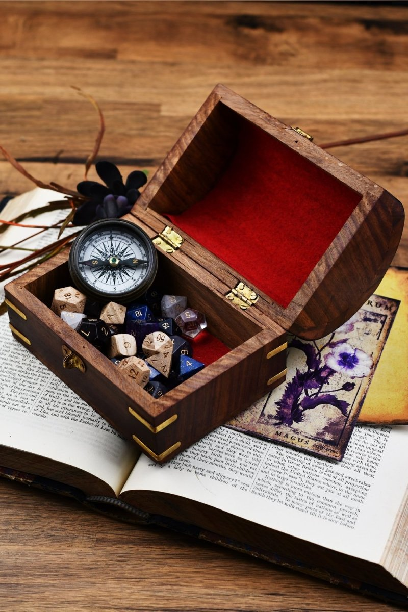 Captain's Chest - Handmade Dice and Accessory Box - GAMETEEUK