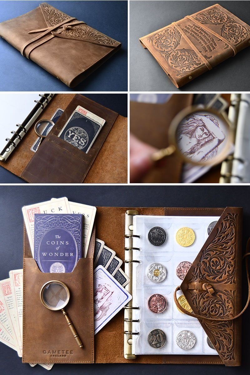 Captain's Coin Album and Notebook - Heritage Brown - GAMETEEUK