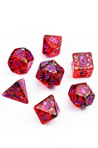 Red Ruby in Ziosite Gemstone Dice Set
