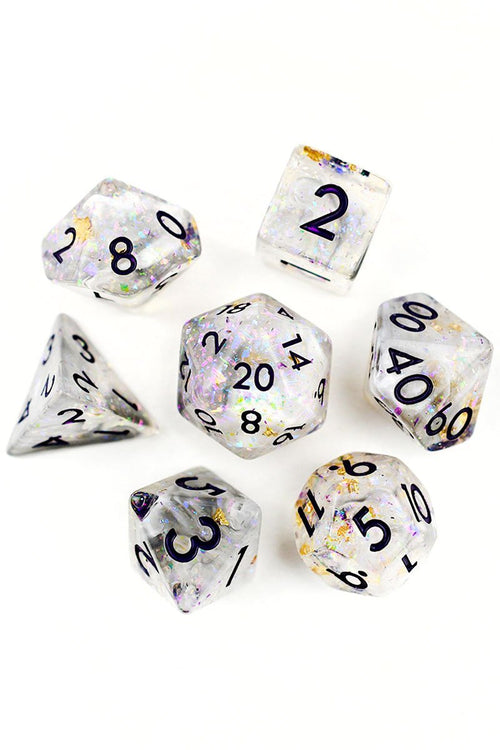Charismatic Stranger - Holographic Foil Dice Set - GAMETEEUK