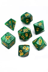Charmstone - Willow Grove Lustre-Sheen Acrylic Dice Set - GAMETEEUK