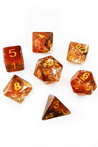 Steam Powered - Amber Acrylic Dice Set