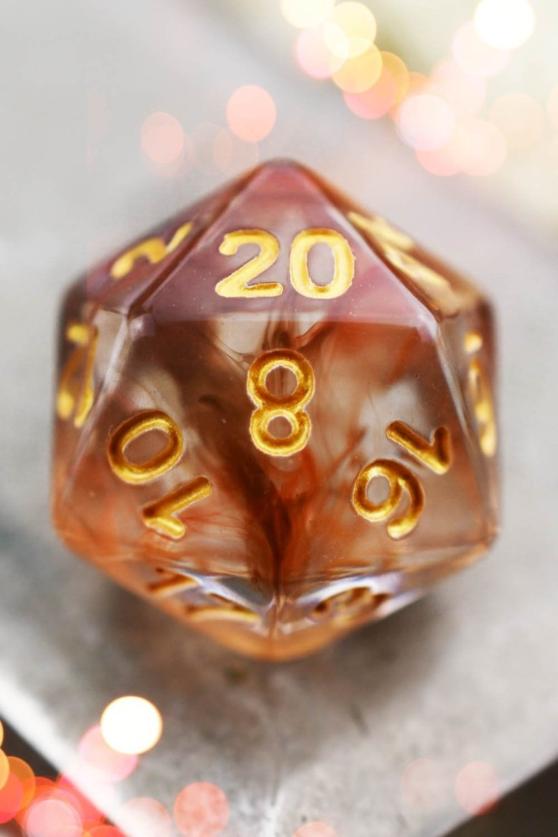 Cherry Cola - Smoke-Silk Acrylic Dice Set - GAMETEEUK