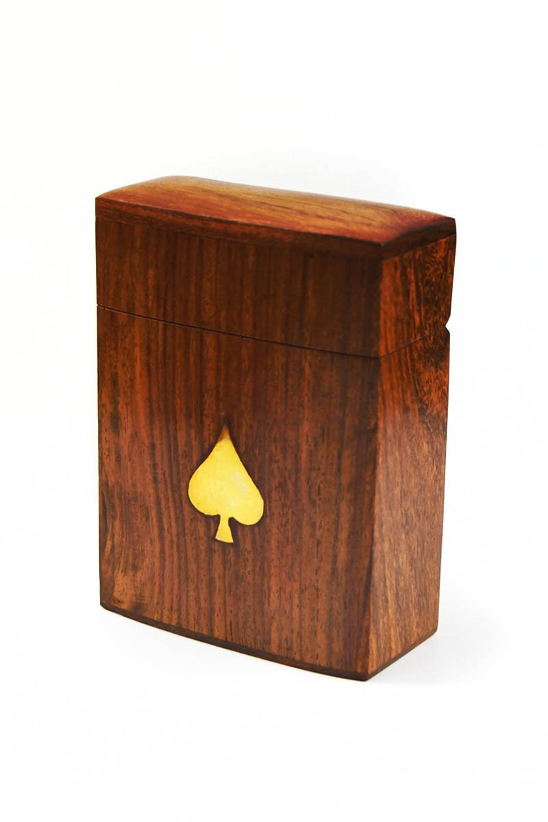 Classic Deck Box with Complimentary Playing Cards - Handmade Deck Box - GAMETEEUK