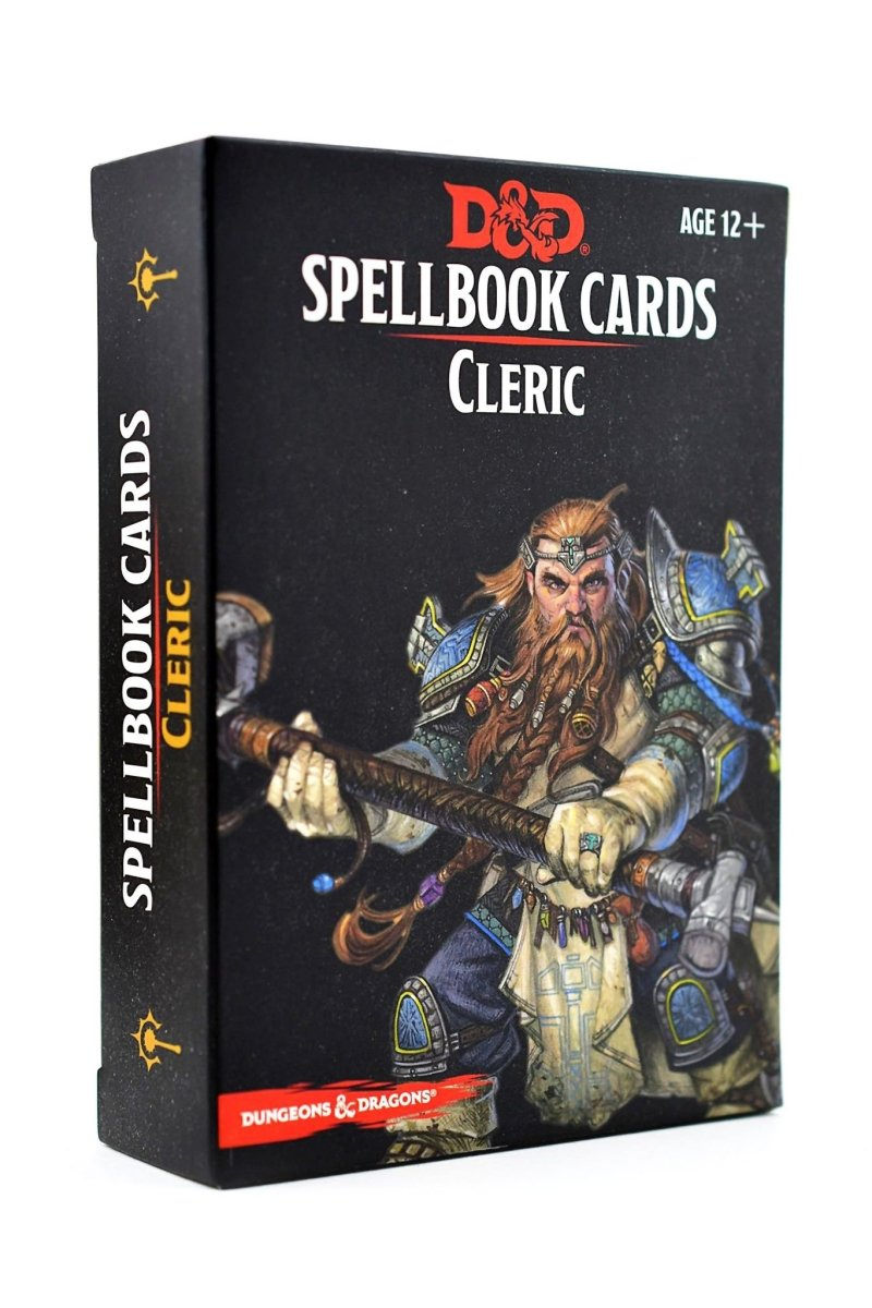 Cleric Spellbook Cards D&D - GAMETEEUK