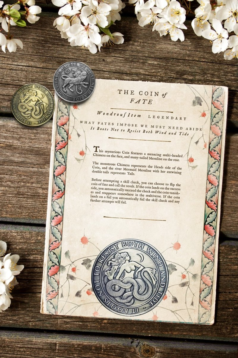 Coin of Fate - Printable Item - GAMETEEUK