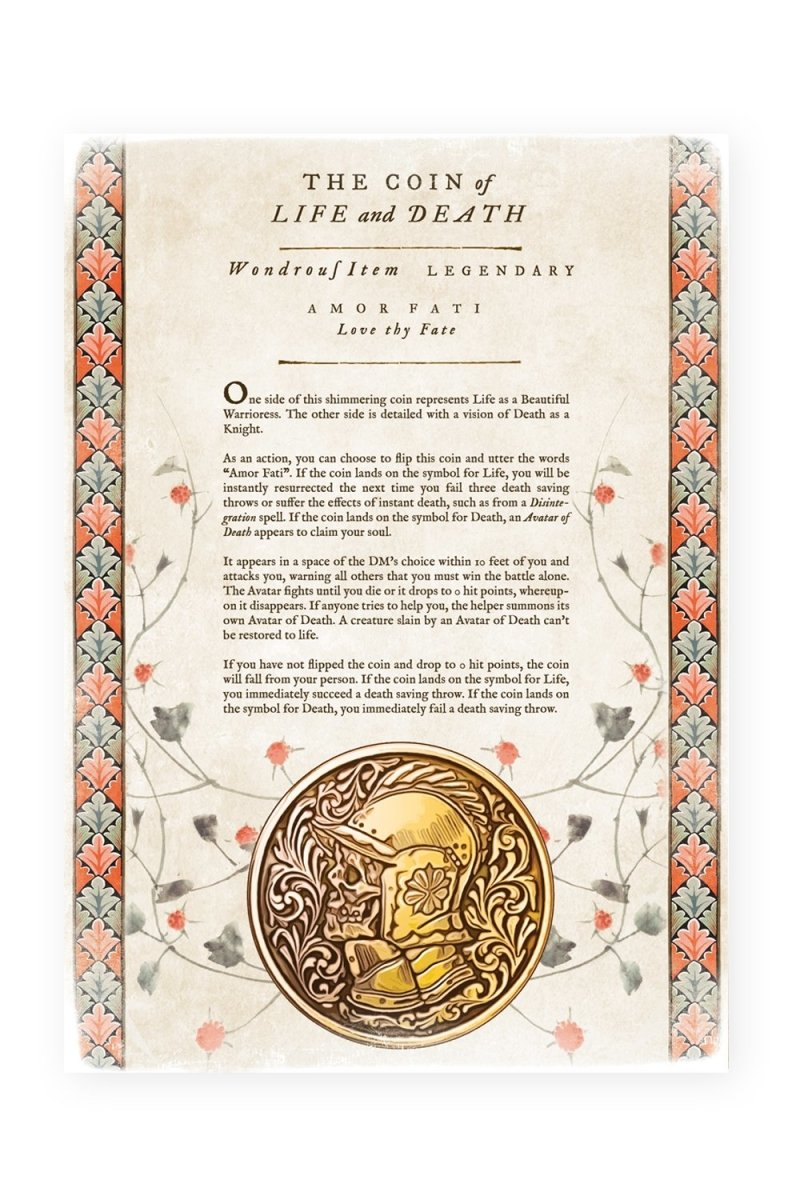 Coin of Life and Death - Printable Item - GAMETEEUK