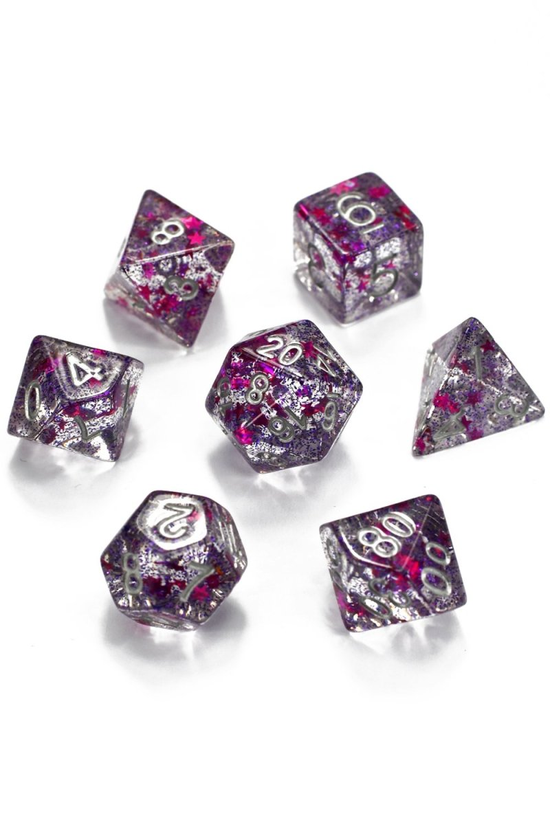 Colour of Magic Star Shine - Acrylic Dice Set - GAMETEEUK