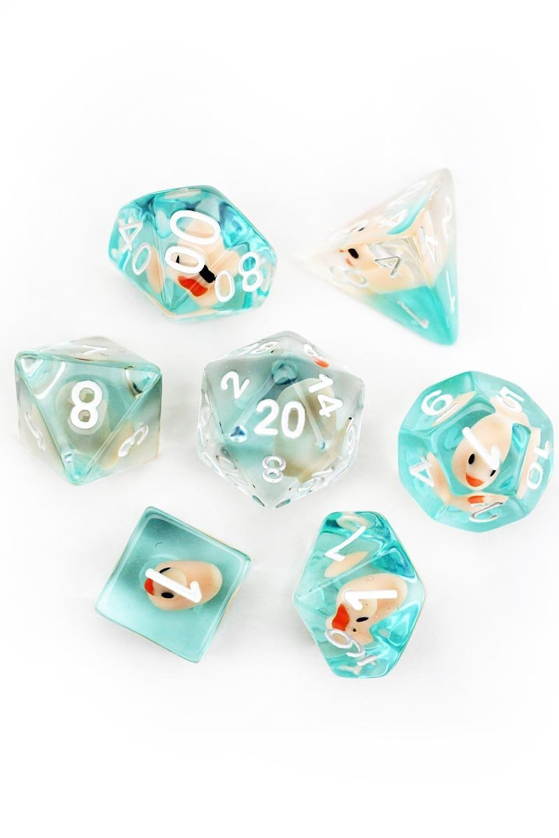 Completely Quackers - Rubber Duck Dice Set - GAMETEEUK