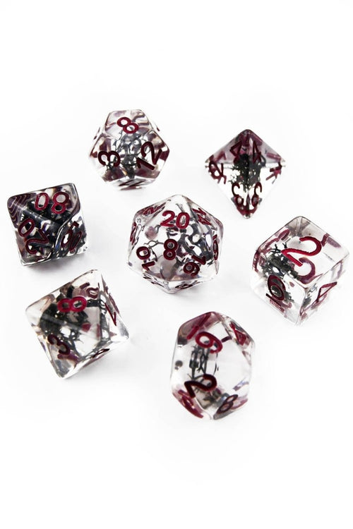 Containment with Real Moss - Acrylic Dice Set - GAMETEEUK